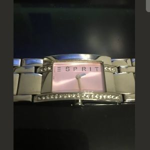 Esprit Women's Watch Pink Front With Jewels.